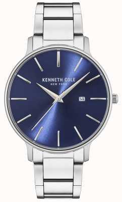 Kenneth Cole Orologio quadrante blu in acciaio inossidabile KC15059003