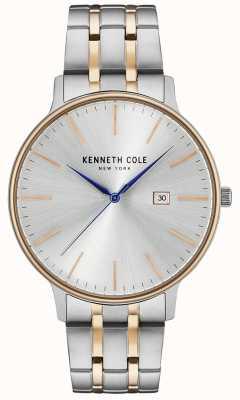 Kenneth Cole Orologio in acciaio inossidabile color argento e oro rosa KC15095003