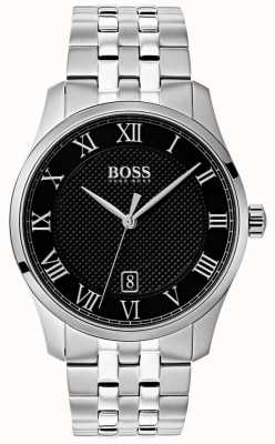 Boss Orologio da uomo con quadrante nero in acciaio inossidabile 1513588
