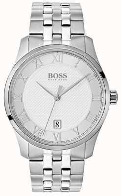Hugo Boss Orologio da uomo con quadrante argentato in acciaio inossidabile 1513589