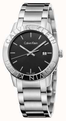 Calvin Klein Quadrante nero in acciaio inossidabile K7Q21141