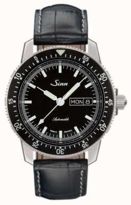 Sinn 104 st sa i classico orologio da polso in pelle con alligatore in rilievo 104.010-BL44201851001225401A