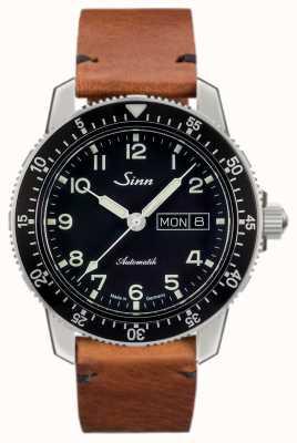 Sinn 104 st sa un classico orologio da pilota vintage marrone chiaro pelle bovina 104.011-BL50205002401A