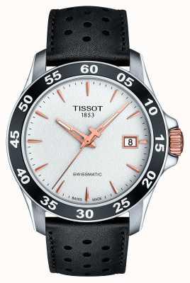 Tissot Mens v8 swissmatic t-sport cinturino in pelle nera T1064072603100