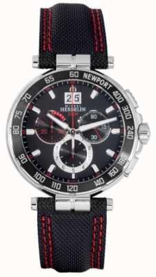 Michel Herbelin Cronografo Newport rosso e quadrante nero 36656/AN44