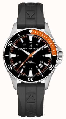 Hamilton Cinturino in caucciù nero con cinturino arancione H82305331