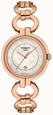 Tissot Placcato in oro rosa flamingo da donna T0942103311601