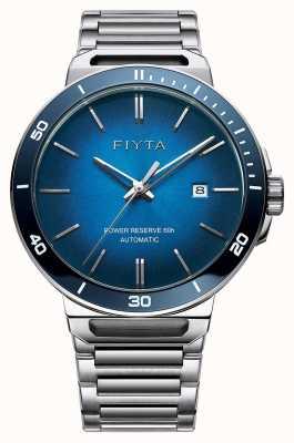 FIYTA Quadrante automatico solo in acciaio inossidabile blu zaffiro GA852001.WLW