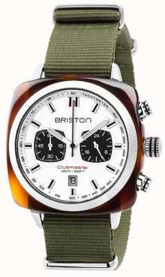 Briston Quadrante bianco giungla sport Clubmaster 17142.SA.TS.2.NGA
