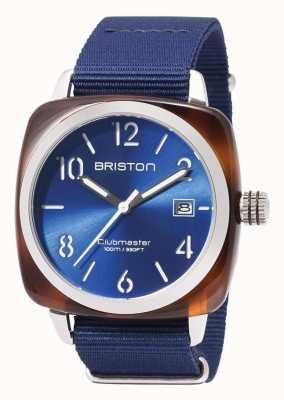 Briston Cinturino blu con icone sportive Clubmaster 17142.SA.TS.9.NNB