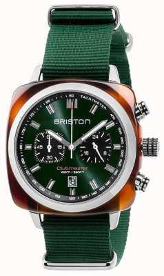 Briston Cinturino verde per icone sport Clubmaster 17142.SA.TS.10.NBG