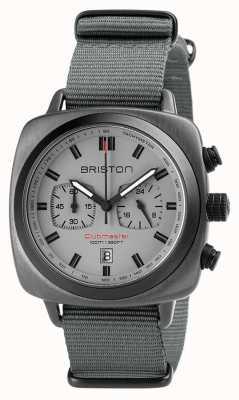 Briston Cinturino sportivo Clubmaster nato grigio 18142.SPG.SP.12.NG