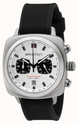 Briston Quadrante bianco cinturino in gomma nera sport Clubmaster 16142.S.SP.2.RB
