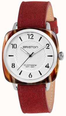 Briston Quadrante bianco con cinturino rosso chic Clubmaster 18536.SA.RE.2G.LNR