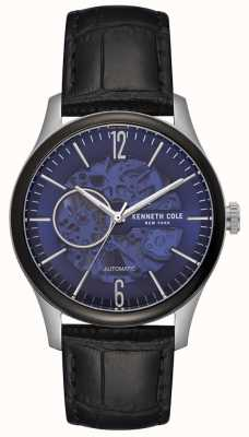 Kenneth Cole Cassa in acciaio inossidabile quadrante nero con quadrante nero KC50224001