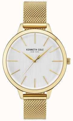 Kenneth Cole Bracciale a maglie in oro con quadrante bianco con cassa in oro KC15056011