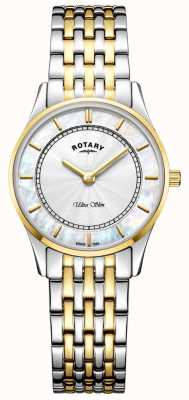Rotary Quadrante madreperla da donna a due toni ultra slim LB08301/41