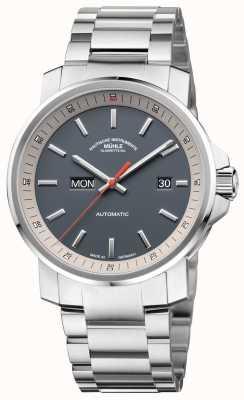 Muhle Glashutte L'orologio quadrante in acciaio inossidabile con cinturino in acciaio inossidabile datario 29er M1-25-34-MB