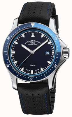 Muhle Glashutte Promuovi go quadrante blu cinturino in pelle nera / gomma M1-42-32-NB