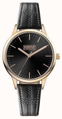 Barbour Quadrante nero con cinturino in pelle nera embleton BB058RSBK
