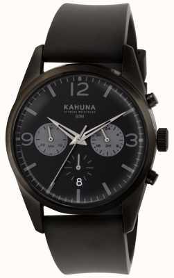 Kahuna Quadrante nero cinturino in caucciù nero con cinturino in gomma KCS-0010G