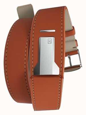 Klokers Klink 02 doppio cinturino arancione solo 22mm largo 380mm KLINK-02-380C8