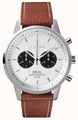 Triwa Mens corvo nevil marrone cucito classico 2 TR.NEST119-TS010212