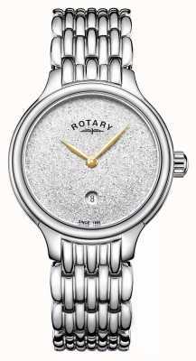 Rotary Quadrante scintillio femminile in acciaio inossidabile LB00405/33