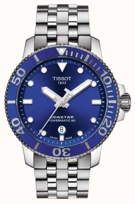 Tissot Seastar 1000 powermatic 80 quadrante blu in acciaio inossidabile T1204071104100