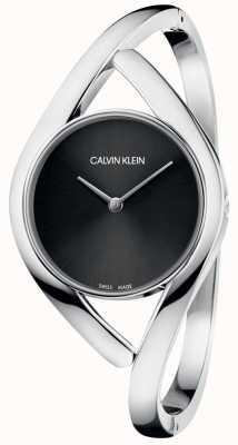 Calvin Klein Quadrante nero da donna con quadrante dell'orologio da polso K8U2M111