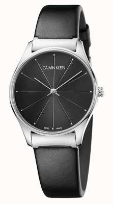 Calvin Klein Cinturino classico da donna in pelle nera K4D221CY