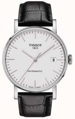 Tissot Mens sempre automatico svizzero cinturino in pelle nera T1094071603100