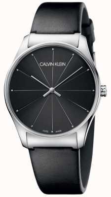 Calvin Klein Classico quadrante nero con cinturino in pelle nera K4D211CY