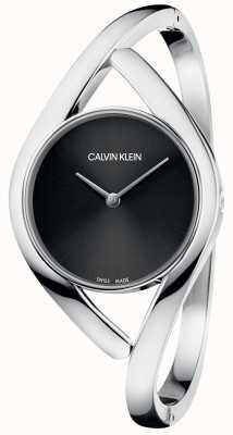 Calvin Klein Quadrante nero con bracciale in acciaio inossidabile K8U2S111