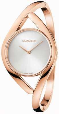 Calvin Klein Bracciale in acciaio inossidabile rosa e argento K8U2S616