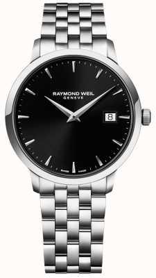 Raymond Weil Quadrante nero acciaio inossidabile toccata mens 5488-ST-20001