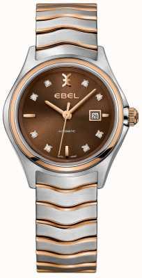 EBEL Quadrante color nocciola con datario a forma di diamante a onda automatica da donna 1216265