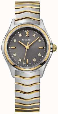 EBEL Diamante a onda da donna con diamanti quadrante grigio 1216283