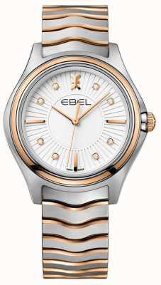 EBEL Diamante a onde romane da donna, quadrante in oro rosa a due tonalità 1216306