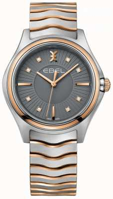 EBEL Bracciale da donna con diamanti a forma di onda in metallo grigio quadrante tono su tono 1216309