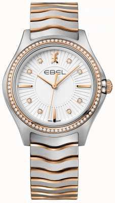 EBEL Bracciale da donna con diamanti incastonati a quadrante bianco 1216319