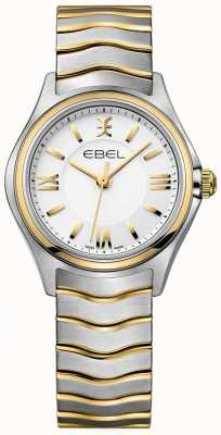 EBEL Bracciale donna onda bianca quadrante bicolore oro e argento 1216375