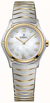 EBEL Classico sportivo da donna con diamanti in madreperla quadrante bicolore 1216388