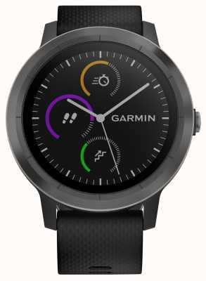 Garmin Vivoactive 3 hr multisport tracker nero gomma ghiera nera 010-01769-10