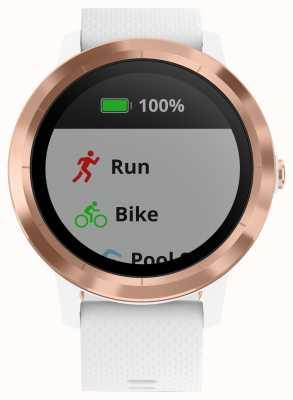 Garmin Vivoactive 3 hr multisport tracker in gomma bianca oro rosa 010-01769-05
