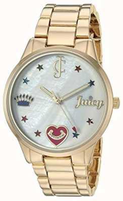 Juicy Couture Orologio da donna con cinturino in acciaio color oro con indici colorati JC-1016MPGB