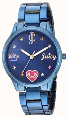 Juicy Couture Bracciale donna in acciaio blu | marcatori colorati | quadrante blu JC-1017BMBL