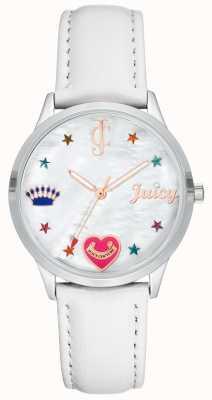 Juicy Couture Orologio da donna con cinturino in silicone bianco con indici colorati JC-1019WTWT
