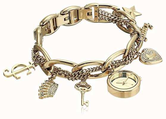 Juicy Couture Orologio da donna con cinturino in acciaio inossidabile con tono oro JC-1040GPCH