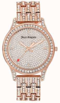 Juicy Couture Orologio da donna con cinturino in oro rosa JC-1044PVRG